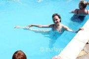 Аквааэробика в открытом бассейне