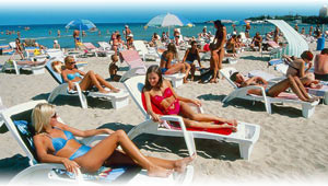 пляж в Анапе, собственный пляж санатория Малая Бухта
